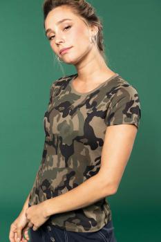Dámské tričko Camo camouflage - zvětšit obrázek