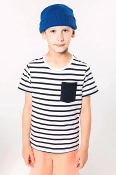 Dětské pruhované tričko s kapsičkou