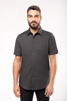Pánská strečová košile s krátkým rukávem - zvětšit obrázek