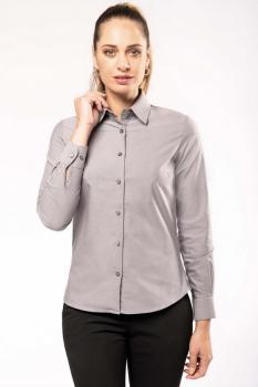 Dámská košile oxford s dlouhým rukávem - zvětšit obrázek