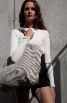 Pruhovaná nákupní taška Juco - zvětšit obrázek