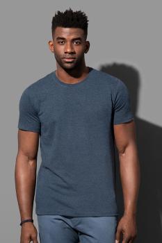 """Pánské tričko LUKE melír do """"U"""" - Výprodej - zvětšit obrázek"""